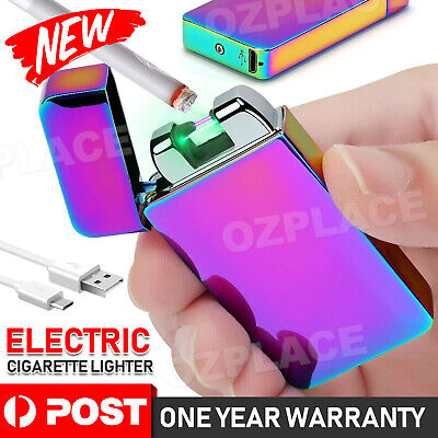 USB Rechargeable Electric Cigarette Lighter Pulse Arc Windproof Flameless Metal