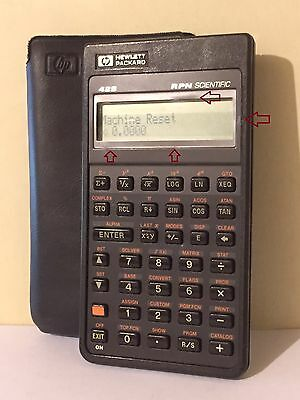 Vintage HP-42S Calculator with Case Manual
