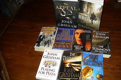 Nice Bundle of Mystery Thrillers by JOHN GRISHAM     free s/h CAN