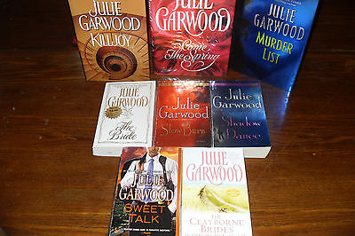 An Assortment of Romance and Mystery Novels by JULIE GARWOOD    free s/h CAN