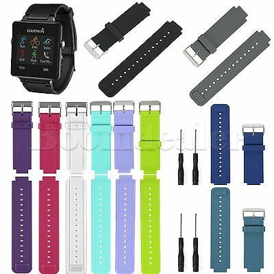 Silicon Replacment Wrist Band Strap + Tools for Garmin Vivoactive Watch Bracelet