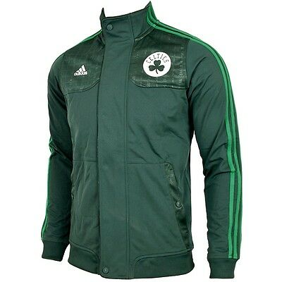 Adidas Boston Celtics Fan Gear Jacket Herren Jacke Trainingsjacke NBA Men grün