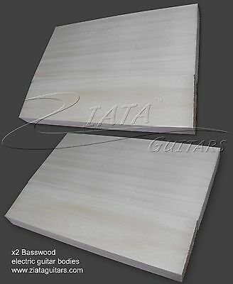 x2 Basswood Guitar Body Blanks  – CNC planed - each board is 2 pieces joined
