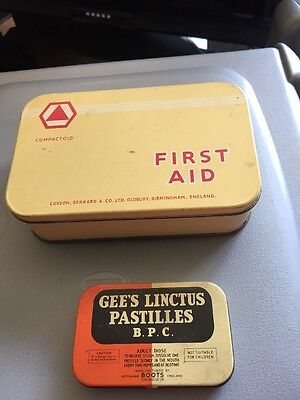 Vintage First Aid Tin Cuxson And Gerard