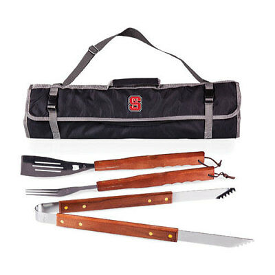 Picnic Time Unisex  3-Piece BBQ Tote NC State University Wolfpack Black Size