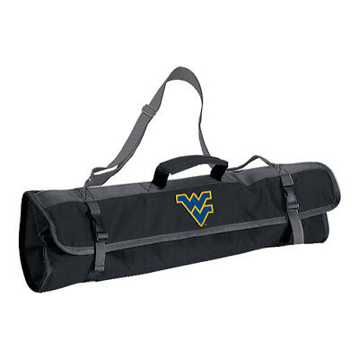 Picnic Time Unisex  3-Piece BBQ Tote West Virginia U Mountaineers Black Size