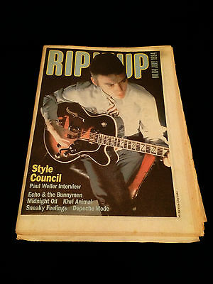 Rip It Up Magazine Nz The Style Council Paul Weller Midnight Oil Depeche Mode 84