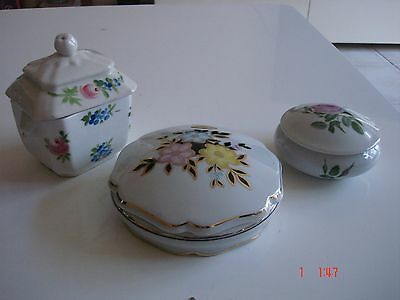 Lot 2 Bonbonnieres Porcelaine De Limoges