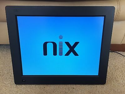 Nix Large Black Digital Photo Frame With Remote