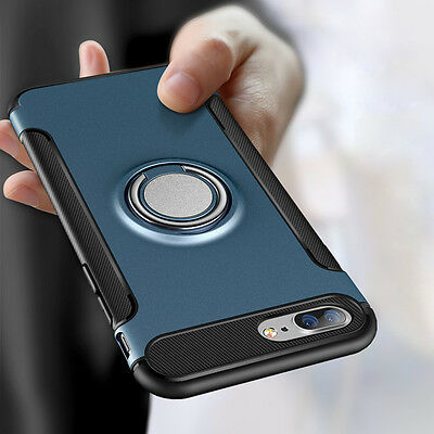 For iPhone 7 8 6S Plus Luxury Shockproof Hybrid Rubber Hard Armor Case Cover New
