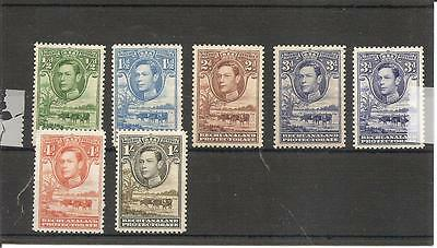 Bechuanaland 1938 Mint Never Hinged partial set to 1/- SG118-SG125