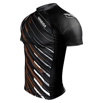 Hayabusa Metaru Charged Shortsleeve Rashguard - Brown