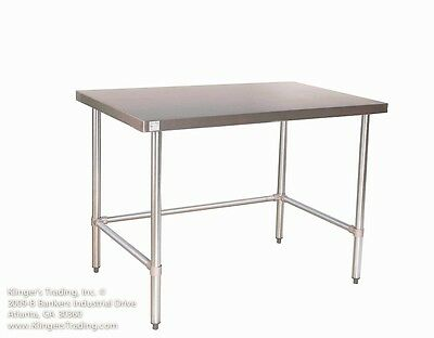 "18"" x 60"" Open Base All Stainless Steel Work Table"