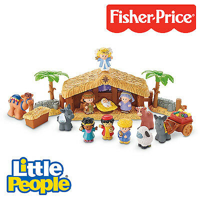 Fisher-Price Little People - Music & Lights - Deluxe Christmas Story Scene - NEW