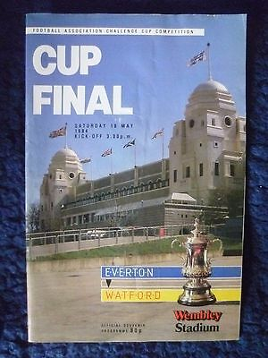 1984 F. A. cup final  Everton v Watford