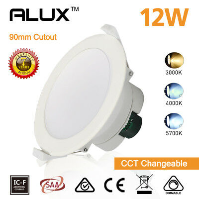 10 x 12W LED DOWNLIGHT KIT SAMSUNG LED DIMMABLE 90MM CUTOUT WARM/DAYLIGHT WHITE