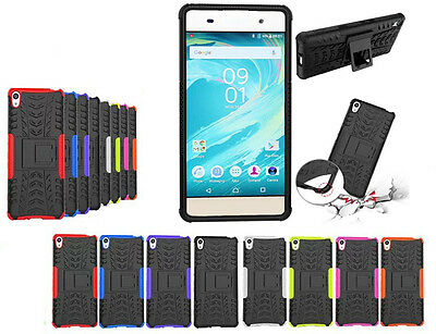 Shockproof Armor Hybrid Rugged Dual Layer Kickstand Case for Sony Xperia X XA