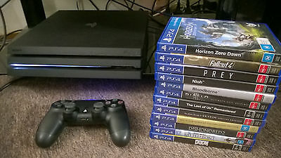SONY Playstation 4 PS4 Pro 1TB Console & 12 Games
