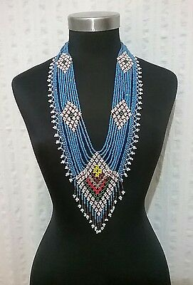 Afghan Vintage Kuchi Handmade Beaded Tribal Necklace