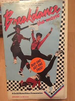 Rare! Breakdance Aka Breakin' Guild VHS ex Rental Video. Pre Cert Big Box.