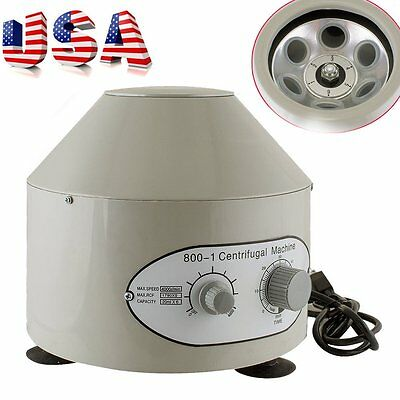 800-1 Electric Centrifuge Machine Lab Medical Practice 110V 4000 rpm 20ml x 6 EK