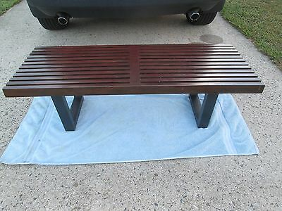 """Mid Century Modern George Nelson Style 48"""" Slat Bench / Coffee Table FREE SHIP"""