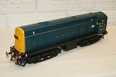 O gauge 7mm KITBUILT Class 20 in BR Blue 20151 twin motors LIGHTS and DETAILED