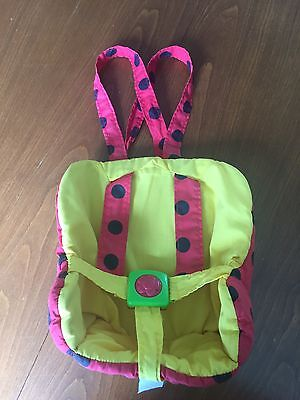 Playskool Baby Doll Little Ladybird Seat Carrier Backpack '94 Lady Bird Soft Toy