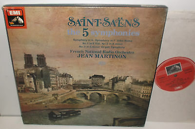 SLS 5035 Saint-Saens The 5 Symphonies French National Radio Orch Jean Martinon