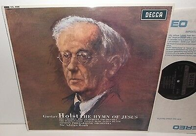 SXL 6006 Holst The Hymn Of Jesus BBC Symphony Orchestra & Chorus Boult HP TAS NB