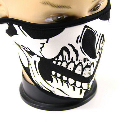 Skeleton Ghost Skull Half Face Mask Ski Motorcycle Riding Cool Winter Mask