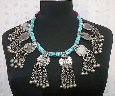 Vintage Traditional Afghan Tribal Kuchi Coin Necklace