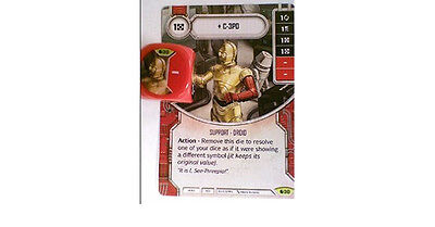 Star Wars Destiny C-3PO + dice - Spirit of Rebellion Rare