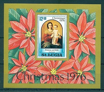 St. LUCIA *1976* S/Sheet * MNH** Christmas - Mi.No BL10