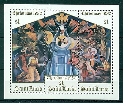 St. LUCIA *1980 * S/Sheet * MNH** Christmas - Mi.No BL27