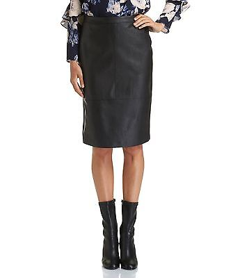 Brand New With Tags Saba Ashley Pencil Black Leather Skirt (size 8)