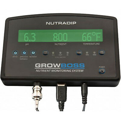Nutradip Growboss pH, EC & Temperature Monitor Hydroponic Trimeter