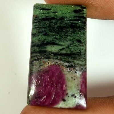 31.60Cts.100%NATURAL RED GREEN RUBY ZOISITE OCTAGON CABOCHON UNTREATED GEMSTONES
