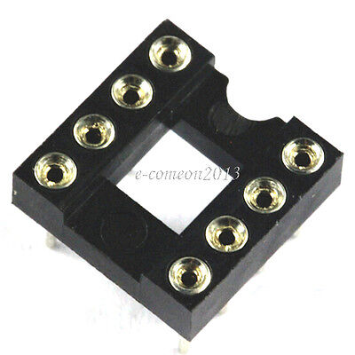 New 10PCS Round-Pin DIP 8  IC Integrated Circuit Adaptor Solder Type Sockets