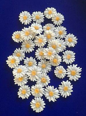 24 Edible fondant flower cake toppers, cake decorations