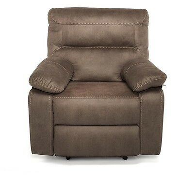 Maxwell One 1 Seater Recliner Armchair Sofa Couch with Faux Suede Finish
