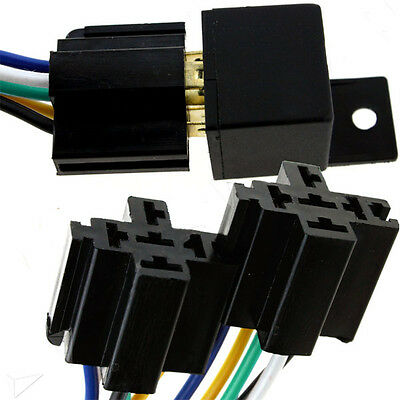 12V 30A 5Pin Car SPDT DC Automotive Power Relay with Wires Harness Socket