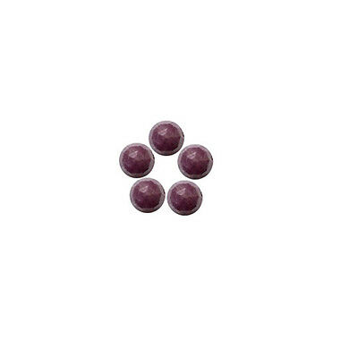 6x6mm 5pc Rose Cut Faceted Cabochon Natural Red Ruby Loose Gemstones