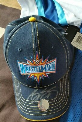 Signed GOLDBERG ~ WWE Wrestlemania 33 orlando ~ Baseball Cap Hat ~ New with Tags