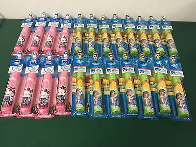 LOT OF 23 Disney Doc Mcstuffins & Hello Kitty Oral-B Pro-Health Power Toothbrush
