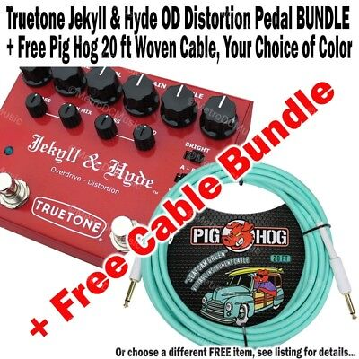 TRUETONE V3 Jekyll & Hyde OD Dist + FREE Pig Hog 20 ft Woven Cable BUNDLE NEW