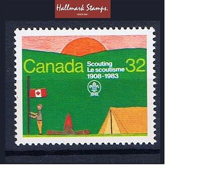 Canada stamps 75th Anniv of Scouting & Scout Jamboree Alberta Sg1100   .... Mint