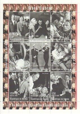 1998 Frank Sinatra Films On Stamps - 9 Stamp 125F Sheet - MNH