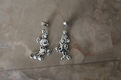 Vintage DISNEY Mickey and Minnie Sterling Earrings