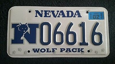University Of Nevada Great Wolf License Plate